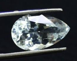 3.85 cts Untreated Pear Shape Cut Natural Aquamarine Gemstone from Pak