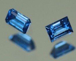 0.14 ct COBALT BLUE SPINEL PAIR- VIETNAM!  UNTREATED!