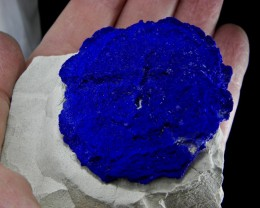 Rare Azurite Sun in Kaolinite display specimen from Malbunka Copper Mine
