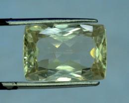 16.00 cts Rectangle Cut Green Spodumene Gemstone From Afghanistan