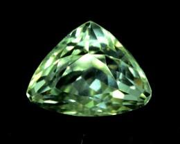 13.15 cts Trillion cut Green Spodumene Gemstone From Afghanistan