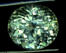 21.85 cts Round Shape cut Green Spodumene Gemstone From Afghanistan (M)