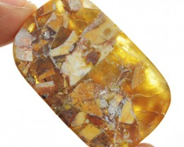 Natural 31.00 Cts Brecciated Mookaite Cab