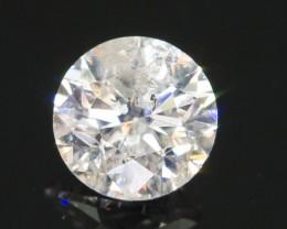 "Certified 0.46 ct Diamond ""K"" White Color from Zimbabwe SKU.2"