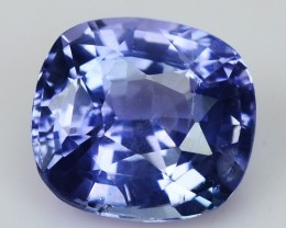 ~IGL~ 1.730 Cts UNHEATED Natural Sapphire Blue Cushion Sri Lanka