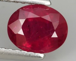 1.35 cts Tremendous Pigeon Red Oval Shape Natural Madagascar