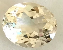 5.3 ct Pastel Yellow Oval Natural   Spodumene - Triphane - R86
