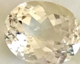 5.95ct Pastel Yellow Oval Natural   Spodumene - Triphane- R87