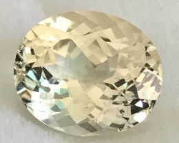 5.50ct Pastel Yellow Oval Natural   Spodumene - Triphane - R89