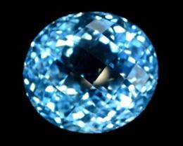 34 cts Round Shape Cut Lovely Blue Topaz Loose Gemstone