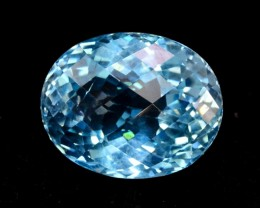 25 cts Oval Shape Cut Lovely Blue Topaz Loose Gemstone