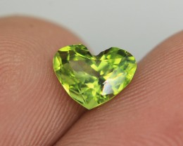 Natural Color Peridot Heart Shape For Valentine Gift