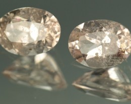 1.425 ctw MORGANITE PAIR - UNTREATED!  CALIBRATED