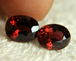 5.92 Carat VS Matching Natural Rhodolite Garnets