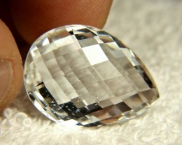 25.93 Carat 2 Side Cushion Cut White VS Topaz - Gorgeous