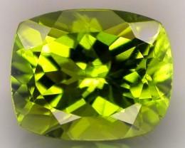 3.15ct Blazing Green Peridot with Beautiful Cut