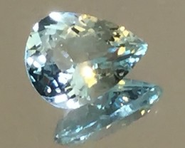 1.51ct Light Aqua Aquamarine VVS Sparkling Glittering Jewel