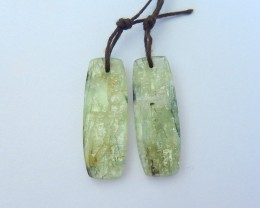 Hot Sale,Natural Green Kyanite Earrings,High Quality Elegant Earrings Bijou
