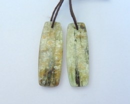 Hot Sale,25.5ct Natural Green Kyanite Earrings For Women(18012703)