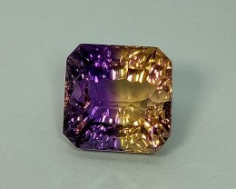 10.35 ct Rare Concave Cut Stunning Bi Color Natural Ametrine