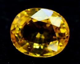 0.85 Cts Oval cut Heated Yellow Sapphire Gemstone From Srilanka