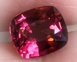 2.01ct Cherry Crimson Rhodolite Garnet Stunning Color
