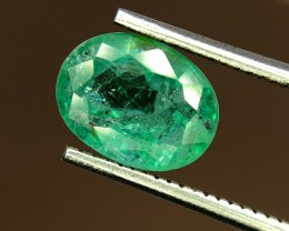 1.35 Crt Natural Zambia Emerald Faceted Gemstone (R 130)