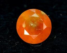 4.70 CTS Round Cut Untreated Orange Garnet Gemstone Fom Afghanistan