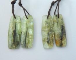 Wholesale,Sell 2 Pairs Natural Green Kyanite Earrings For Women(18031528)