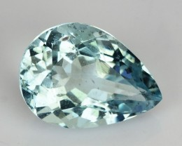 1.77 Cts Natural Aquamarine Blue Pear Brazil
