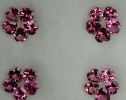 Cute Heart 2.04 Cts Natural Sweet Pink Tourmaline 20 pcs Parcel