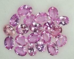 3.06 Cts Natural Pink Sapphire Oval Cut 20 Pcs Parcel