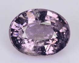 2.52 Cts Natural Pinkish Grey Spinel Oval Burmese