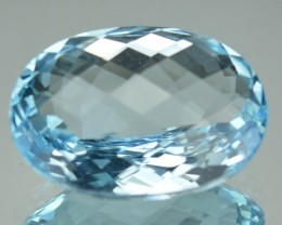 7.47 Cts Natural Sky Blue Topaz Oval Cut Brazil Gem