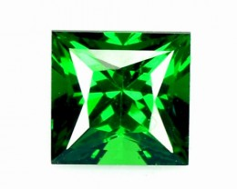 NATURAL TSAVORITE GARNET 0.45 Cts PRINCESS CUT KENYA