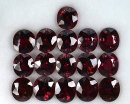 25.92 Cts Natural Reddish Pink Rhodolite Garnet Oval 16Pcs 7x6mm Africa