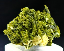 226 Ct Unheated ~ Natural  Superb Green Epidot Specimen