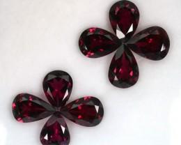 17.48 Cts Natural Purple Rhodolite Garnet 8Pcs Pear Africa