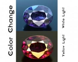 Rare 1.18 ct Purplish Blue Garnet Color Change Bekily Mine Madagascar SKU-1