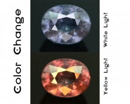 Rare 1.48 ct Blueish Green Garnet Color Change Bekily Mine Madagascar SKU-1