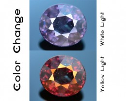 Rare 1.36 ct Blueish Green Garnet Color Change Bekily Mine Madagascar SKU-1