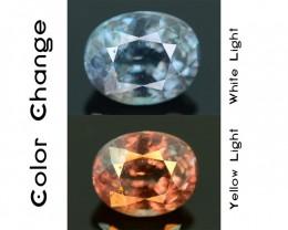 Rare 1.16 ct Blueish Green Garnet Color Change Bekily Mine Madagascar SKU-1
