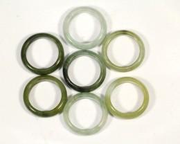 Beautiful Unisex Old type Rich Green/White Jadeite Jade Ring 91.5ct