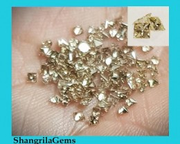 0.25ct 8 Princess cut Champagne diamonds approx 0.031ct each