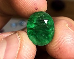 6.55 cts HUGE EMERALD - AAA JEWELRY GRADE - BEST SATURATION