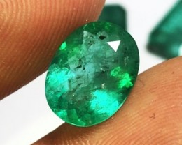 3.85 cts BEST EMERALD - FANTASTIC COLOR & CLARITY - STATEMENT PIECE