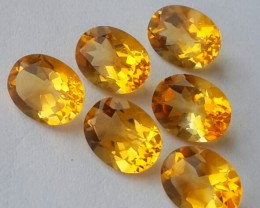 9.47 CTS DAZZLING TOP NATURAL YELLOW CITRINE OVAL BRAZIL NR!!!