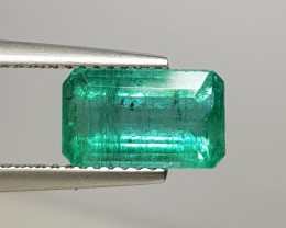 2.21 cts Awesome Green Octagon Cut Natural Emerald