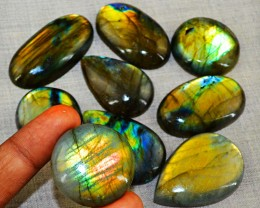 Genuine 595.00 Cts Oval Shape Labradorite Gem Lot - Wow