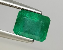 2.34 cts Awesome Green Octagon Cut Natural Emerald